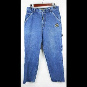 BOSS IG DESIGN - DARK WASH BLUE JEANS DENIM BAGGY